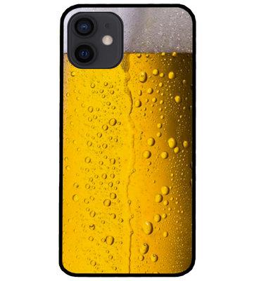 ADEL Siliconen Back Cover Softcase Hoesje voor iPhone 12 Mini - Pils Bier