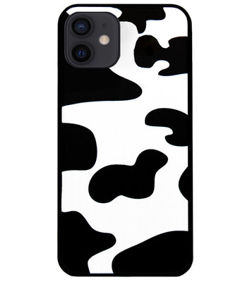 ADEL Siliconen Back Cover Softcase Hoesje voor iPhone 12 Mini - Koeienhuid