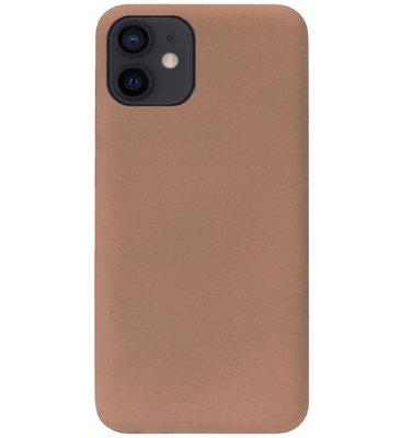 ADEL Siliconen Back Cover Softcase Hoesje voor iPhone 12 Mini - Bruin