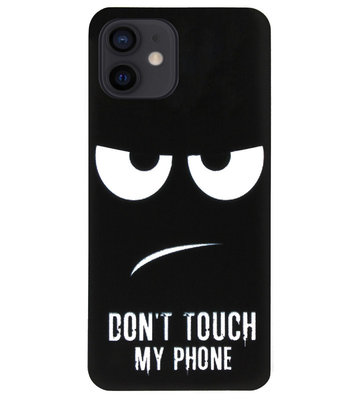 ADEL Siliconen Back Cover Softcase Hoesje voor iPhone 12 Mini - Don't Touch My Phone