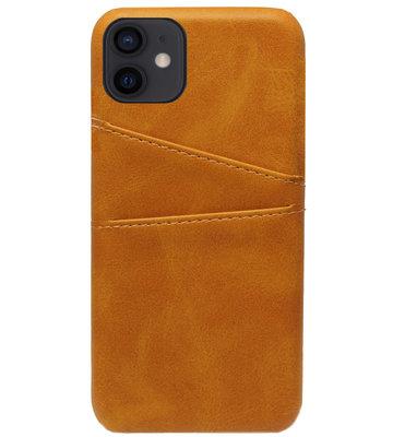ADEL Kunstleren Back Cover Pasjes Hoesje voor iPhone 12 Mini - Bruin