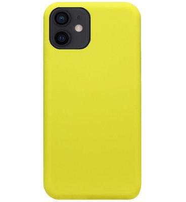 ADEL Premium Siliconen Back Cover Softcase Hoesje voor iPhone 12 Mini - Geel