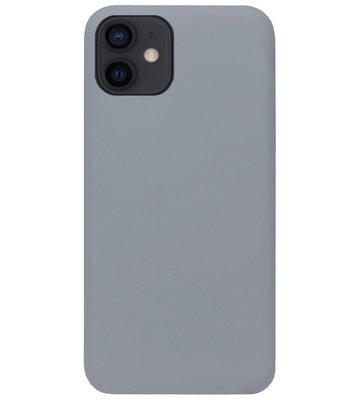 ADEL Siliconen Back Cover Softcase Hoesje voor iPhone 12 Mini - Grijs