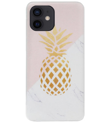 ADEL Siliconen Back Cover Softcase Hoesje voor iPhone 12 Mini - Ananas