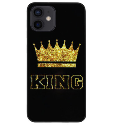 ADEL Siliconen Back Cover Softcase Hoesje voor iPhone 12 Mini - King Koning
