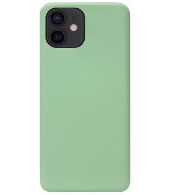 ADEL Premium Siliconen Back Cover Softcase Hoesje voor iPhone 12 Mini - Lichtgroen