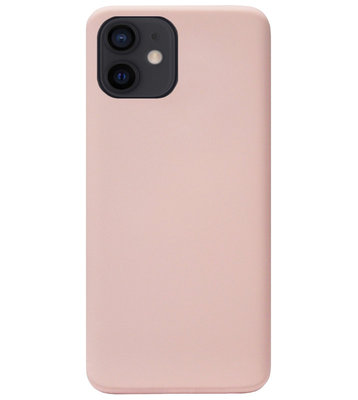ADEL Premium Siliconen Back Cover Softcase Hoesje voor iPhone 12 Mini - Lichtroze