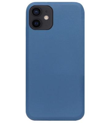 ADEL Premium Siliconen Back Cover Softcase Hoesje voor iPhone 12 Mini - Blauw