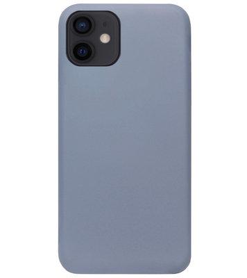 ADEL Premium Siliconen Back Cover Softcase Hoesje voor iPhone 12 Mini - Lavendel
