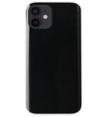 ADEL Siliconen Back Cover Softcase Hoesje voor iPhone 12 Mini - Doorzichtig Transparant