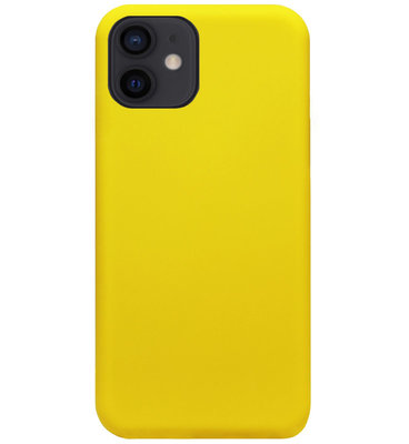 ADEL Siliconen Back Cover Softcase Hoesje voor iPhone 12 Mini - Geel