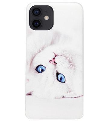 ADEL Siliconen Back Cover Softcase Hoesje voor iPhone 12 Mini - Katten