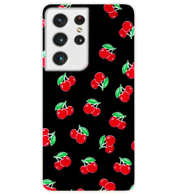 ADEL Siliconen Back Cover Softcase Hoesje voor Samsung Galaxy S21 Ultra - Fruit