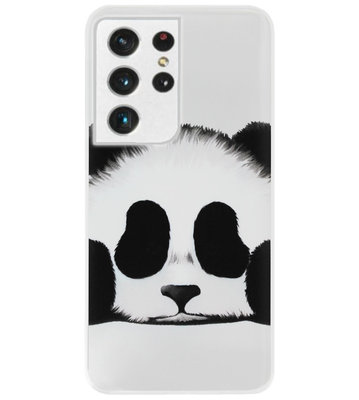 ADEL Siliconen Back Cover Softcase Hoesje voor Samsung Galaxy S21 Ultra - Panda