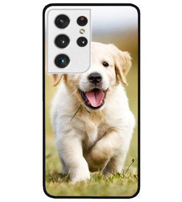 ADEL Siliconen Back Cover Softcase Hoesje voor Samsung Galaxy S21 Ultra - Labrador Retriever Hond