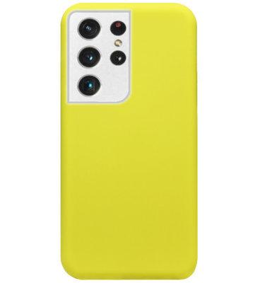 ADEL Premium Siliconen Back Cover Softcase Hoesje voor Samsung Galaxy S21 Ultra - Geel