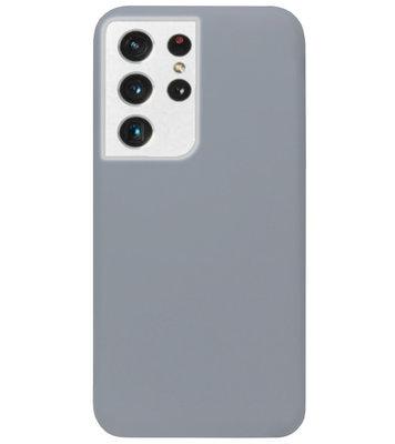 ADEL Siliconen Back Cover Softcase Hoesje voor Samsung Galaxy S21 Ultra - Grijs