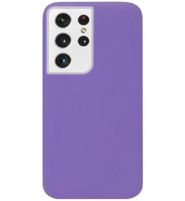 ADEL Siliconen Back Cover Softcase Hoesje voor Samsung Galaxy S21 Ultra - Paars