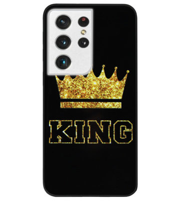 ADEL Siliconen Back Cover Softcase Hoesje voor Samsung Galaxy S21 Ultra - King Koning