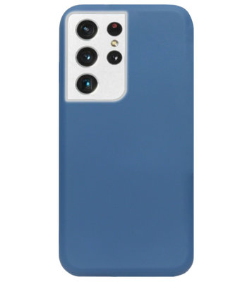 ADEL Premium Siliconen Back Cover Softcase Hoesje voor Samsung Galaxy S21 Ultra - Blauw