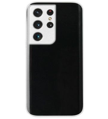 ADEL Siliconen Back Cover Softcase Hoesje voor Samsung Galaxy S21 Ultra - Doorzichtig Transparant