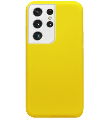 ADEL Siliconen Back Cover Softcase Hoesje voor Samsung Galaxy S21 Ultra - Geel