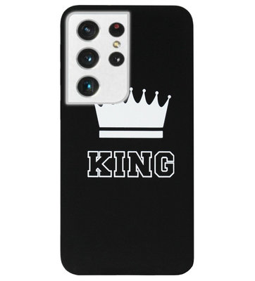 ADEL Siliconen Back Cover Softcase Hoesje voor Samsung Galaxy S21 Ultra - King