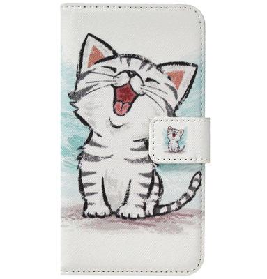 ADEL Kunstleren Book Case Pasjes Portemonnee Hoesje voor Samsung Galaxy S21 Ultra - Katten