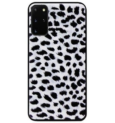 ADEL Siliconen Back Cover Softcase Hoesje voor Samsung Galaxy S20 FE - Luipaard Wit