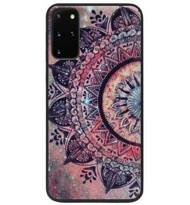 ADEL Siliconen Back Cover Softcase Hoesje voor Samsung Galaxy S20 FE - Mandala Bloemen Rood