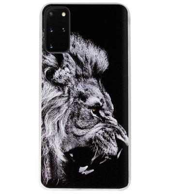 ADEL Siliconen Back Cover Softcase Hoesje voor Samsung Galaxy S20 FE - Leeuw Zwart