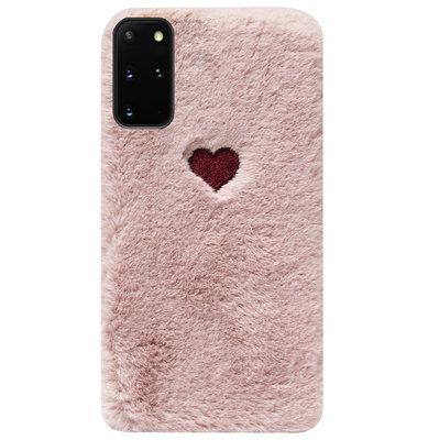 ADEL Siliconen Back Cover Softcase Hoesje voor Samsung Galaxy S20 FE - Hartjes Roze
