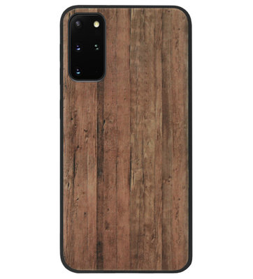 ADEL Siliconen Back Cover Softcase Hoesje voor Samsung Galaxy S20 FE - Hout Design Bruin