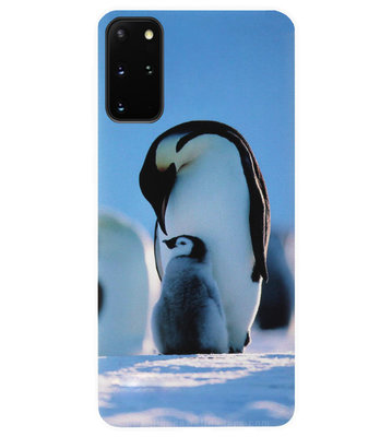 ADEL Siliconen Back Cover Softcase Hoesje voor Samsung Galaxy S20 FE - Pinguin Blauw