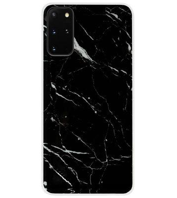 ADEL Siliconen Back Cover Softcase Hoesje voor Samsung Galaxy S20 FE - Marmer Zwart