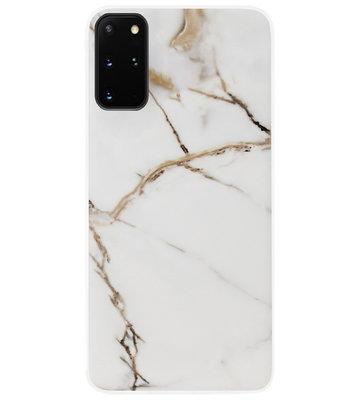 ADEL Siliconen Back Cover Softcase Hoesje voor Samsung Galaxy S20 FE - Marmer Goud