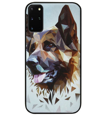 ADEL Siliconen Back Cover Softcase Hoesje voor Samsung Galaxy S20 FE - Duitse Herder Hond
