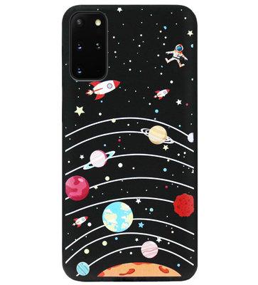 ADEL Siliconen Back Cover Softcase Hoesje voor Samsung Galaxy S20 FE - Ruimte Heelal Cartoon