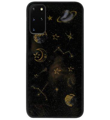 ADEL Siliconen Back Cover Softcase Hoesje voor Samsung Galaxy S20 FE - Ruimte Heelal Bling Glitter