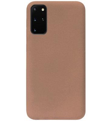 ADEL Siliconen Back Cover Softcase Hoesje voor Samsung Galaxy S20 FE - Bruin