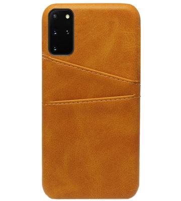 ADEL Kunstleren Back Cover Pasjes Hoesje voor Samsung Galaxy S20 FE - Bruin