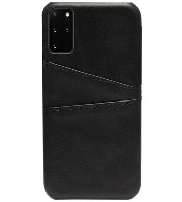 ADEL Kunstleren Back Cover Pasjes Hoesje voor Samsung Galaxy S20 FE - Zwart