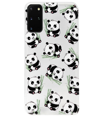 ADEL Siliconen Back Cover Softcase Hoesje voor Samsung Galaxy S20 FE - Panda Liggend