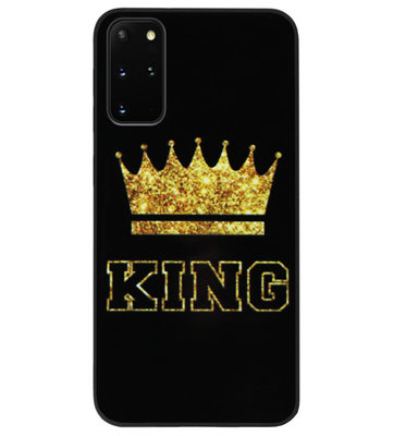ADEL Siliconen Back Cover Softcase Hoesje voor Samsung Galaxy S20 FE - King Koning