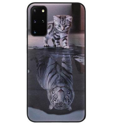 ADEL Siliconen Back Cover Softcase Hoesje voor Samsung Galaxy S20 FE - Poezen Schaduw Tijger