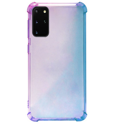 ADEL Siliconen Back Cover Softcase Hoesje voor Samsung Galaxy S20 FE - Kleurovergang Blauw Paars