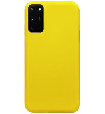 ADEL Siliconen Back Cover Softcase Hoesje voor Samsung Galaxy S20 FE - Geel