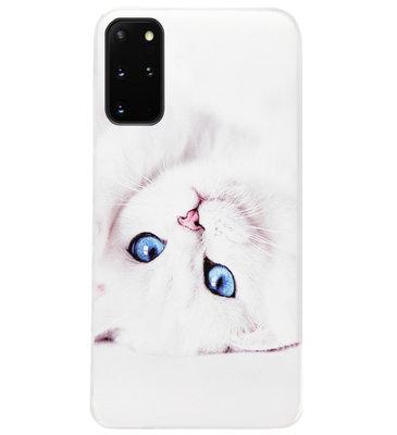 ADEL Siliconen Back Cover Softcase Hoesje voor Samsung Galaxy S20 FE - Katten