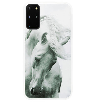 ADEL Siliconen Back Cover Softcase Hoesje voor Samsung Galaxy S20 FE - Paarden