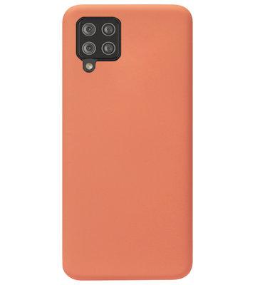 ADEL Premium Siliconen Back Cover Softcase Hoesje voor Samsung Galaxy A42 - Oranje